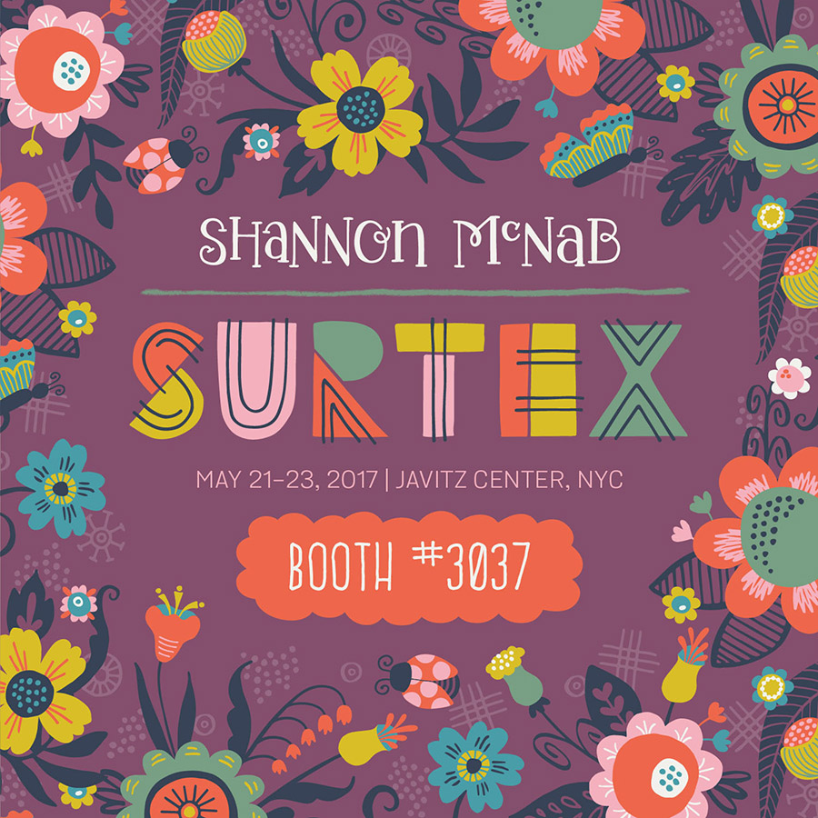 Shannon McNab SURTEX 2017 Preview | Booth 3037