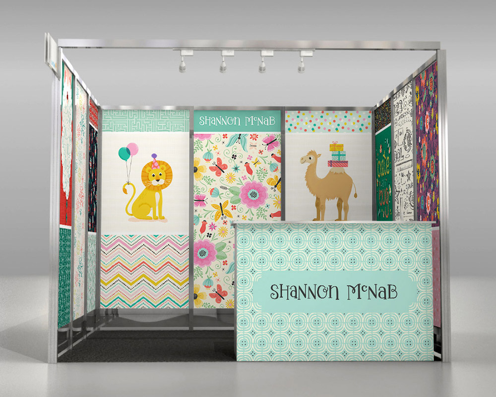 My 8x10 Booth Mockup for Surtex 2017 | shannonmcnab.com