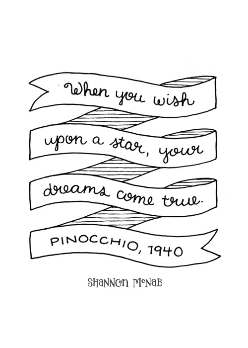 When You Wish Upon a Star, Your Dreams Come True | Disney Quote Project by Shannon McNab