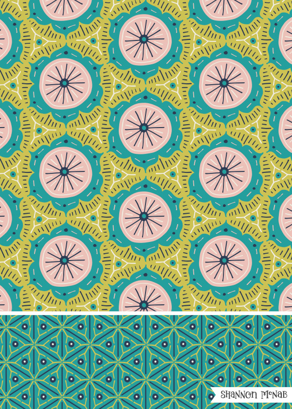 Moroccan Mosaic geometric pattern collection | ©2017 Shannon McNab