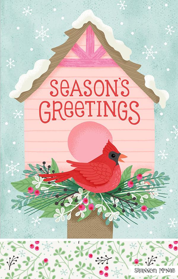 Birdhouse Greetings illustration | ©2018 Shannon McNab