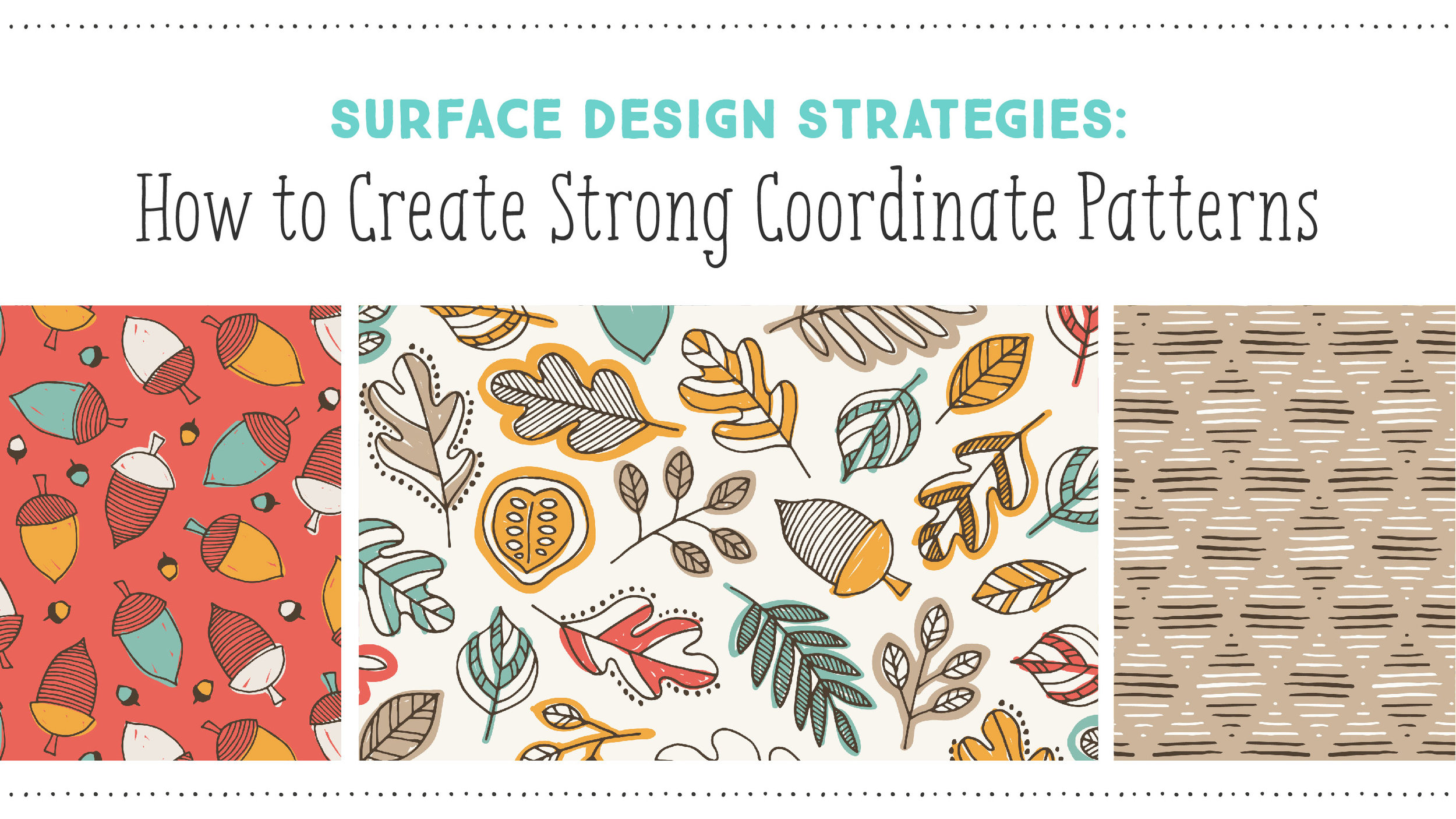 How to Create Strong Coordinate Patterns: A Mini Class by Shannon McNab