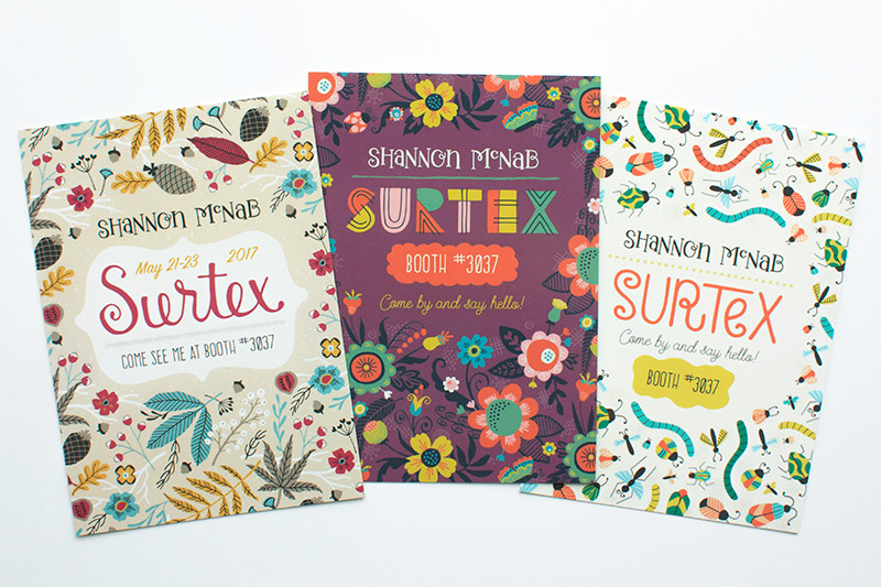 Surtex 2017 Marketing Mailers | designed by Shannon McNab