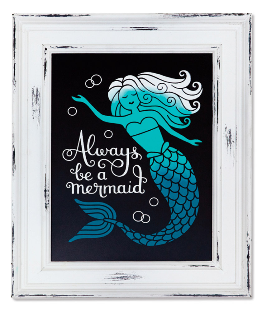 Always Be a Mermaid Stencil for Chalk Couture