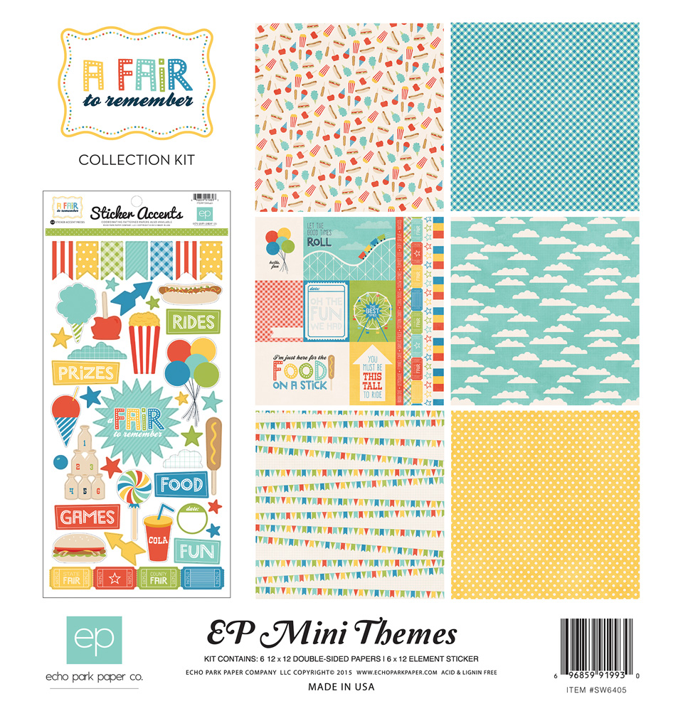 A Fair to Remember Mini Kit co-designed with Laura Passage for Echo Park Paper Co.