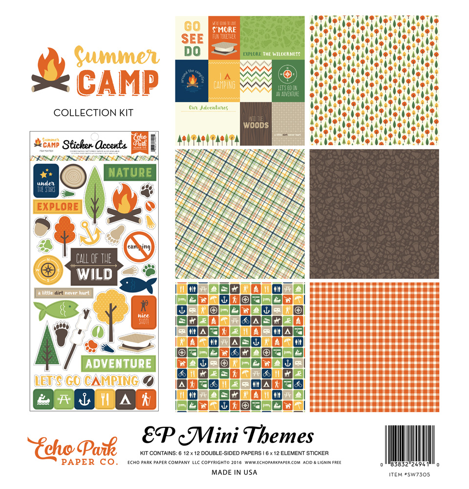 Summer Camp Mini Scrapbook Kit for Echo Park Paper Co.