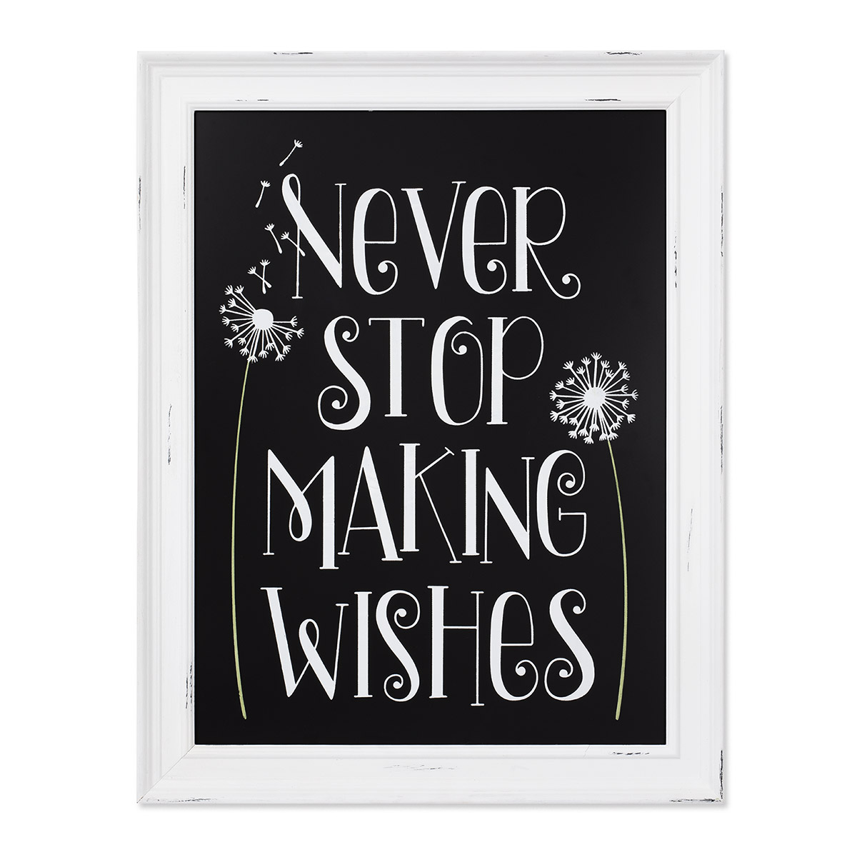 Never Stop Making Wishes Hand Lettered Stencil for Chalk Couture