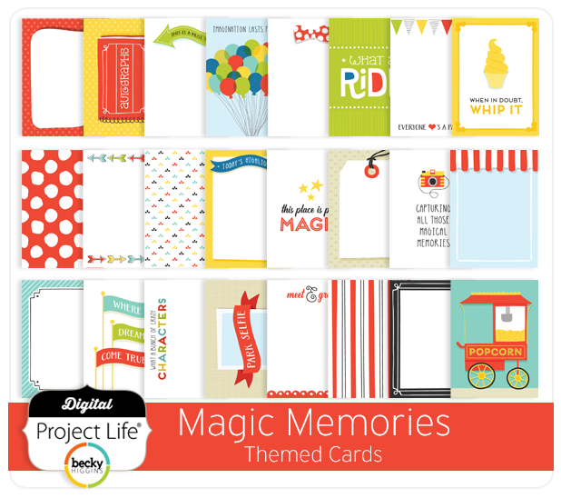 Magical Memories Project Life Cards for Becky Higgins LLC