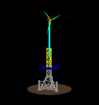 NOVEL JACK-UP BARGE  / Windfarm Concept