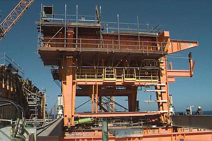 Jacking & Skidding of Offshore Drilling Deck