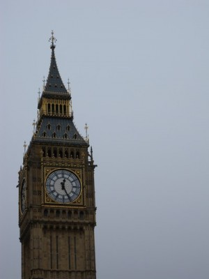Big Ben. And, yes, I did go all the way up and no, it is not allowed and yes, it was too high but still pretty cool.