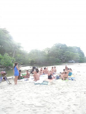 potluck at Cocles beach