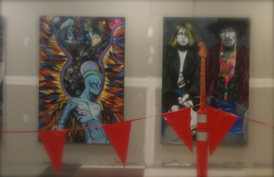 I found Art in Atlanta in terms of Kurt Cobain and Jimi Hendrix