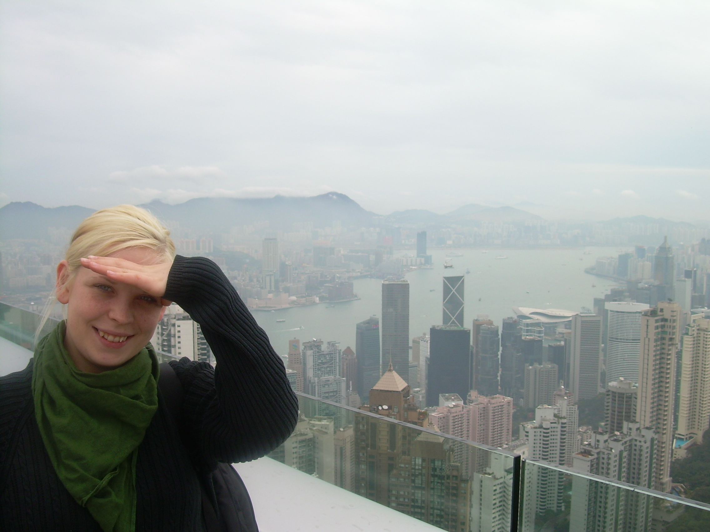 We started off with The Peak (view point) to make sure to get several perspectives of the city. And, yes, what you see is smog.