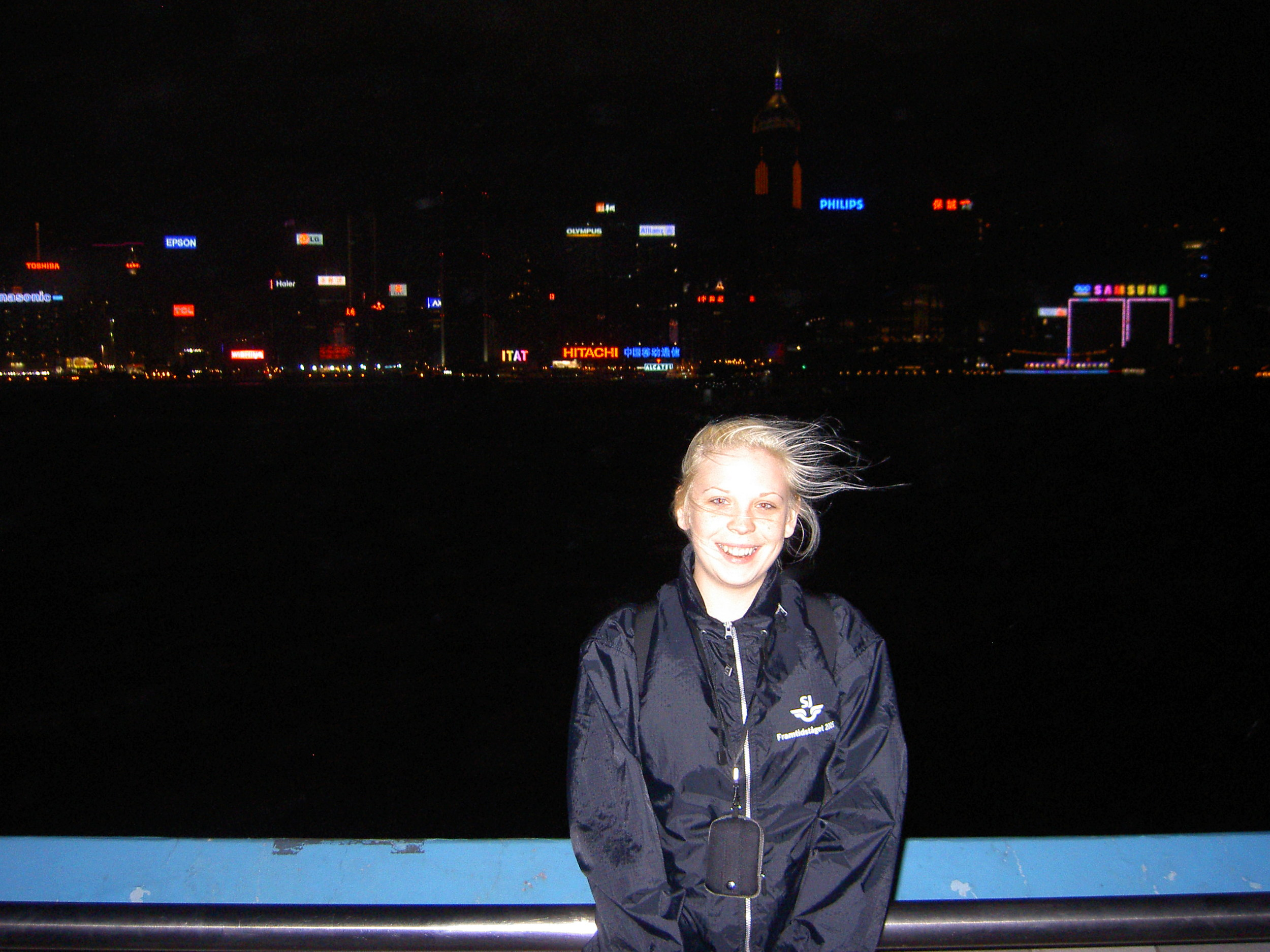 The Harbour by night. Pretty windy