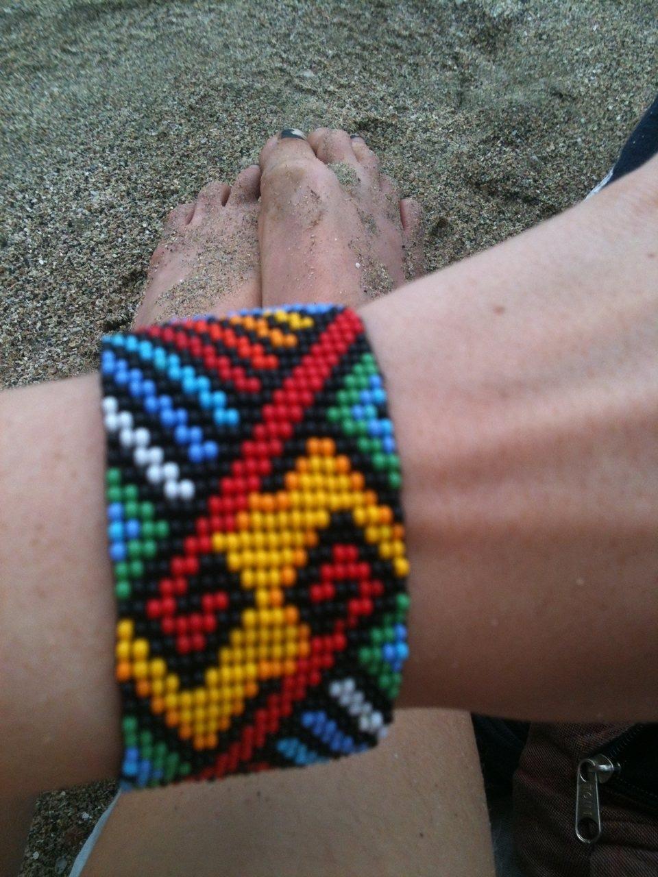 Ayawaska bracelet. Gift from my beautiful sister and goddess Jerusha.