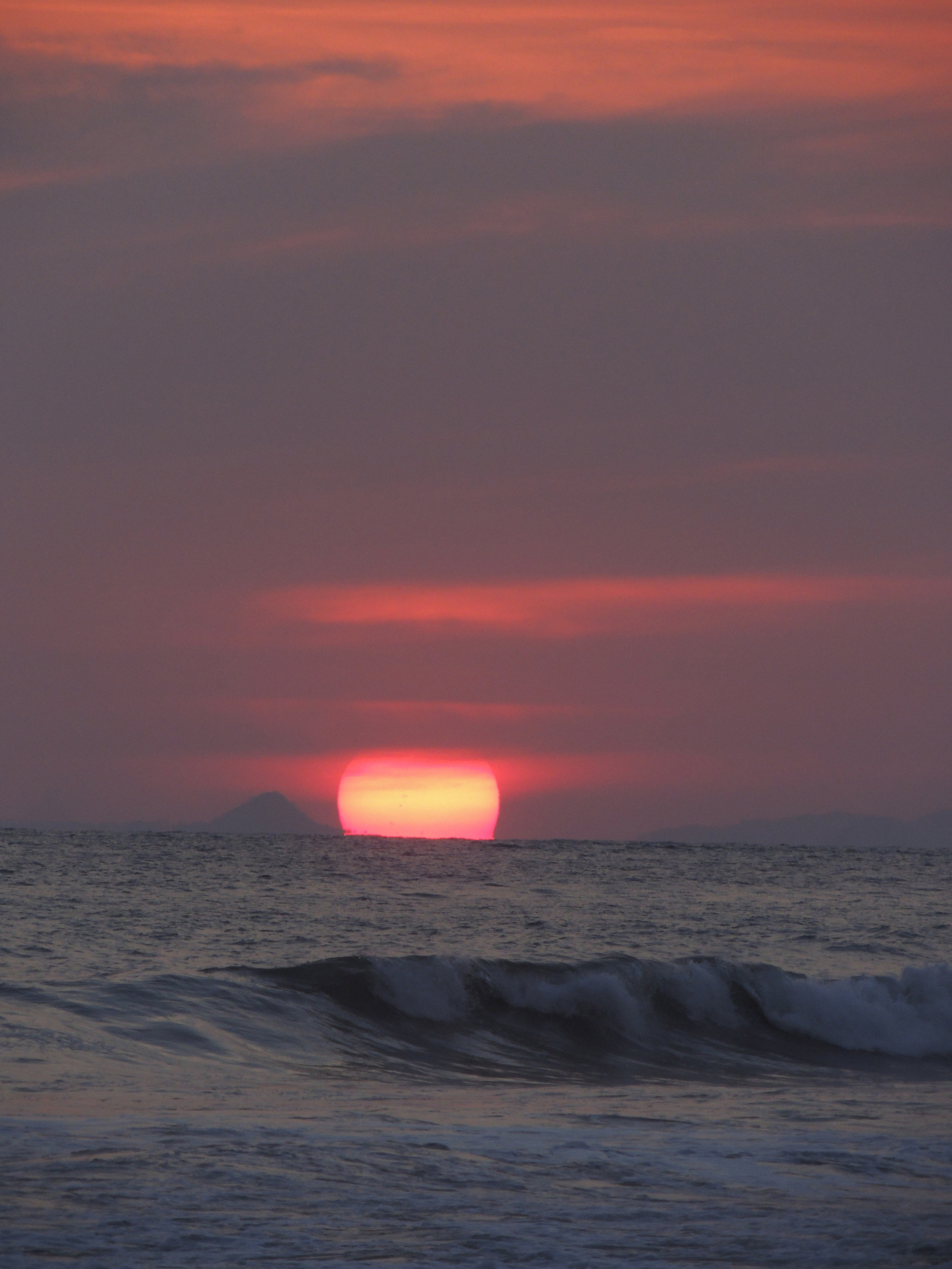 Famous sunset Jaco Beach, Costa RIca. Foto: Magdalena Larsson