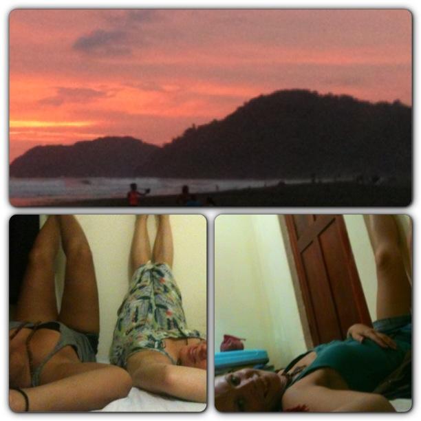 Beds on Bohio, Jaco Beach Costa Rica with Megan and Sabeena