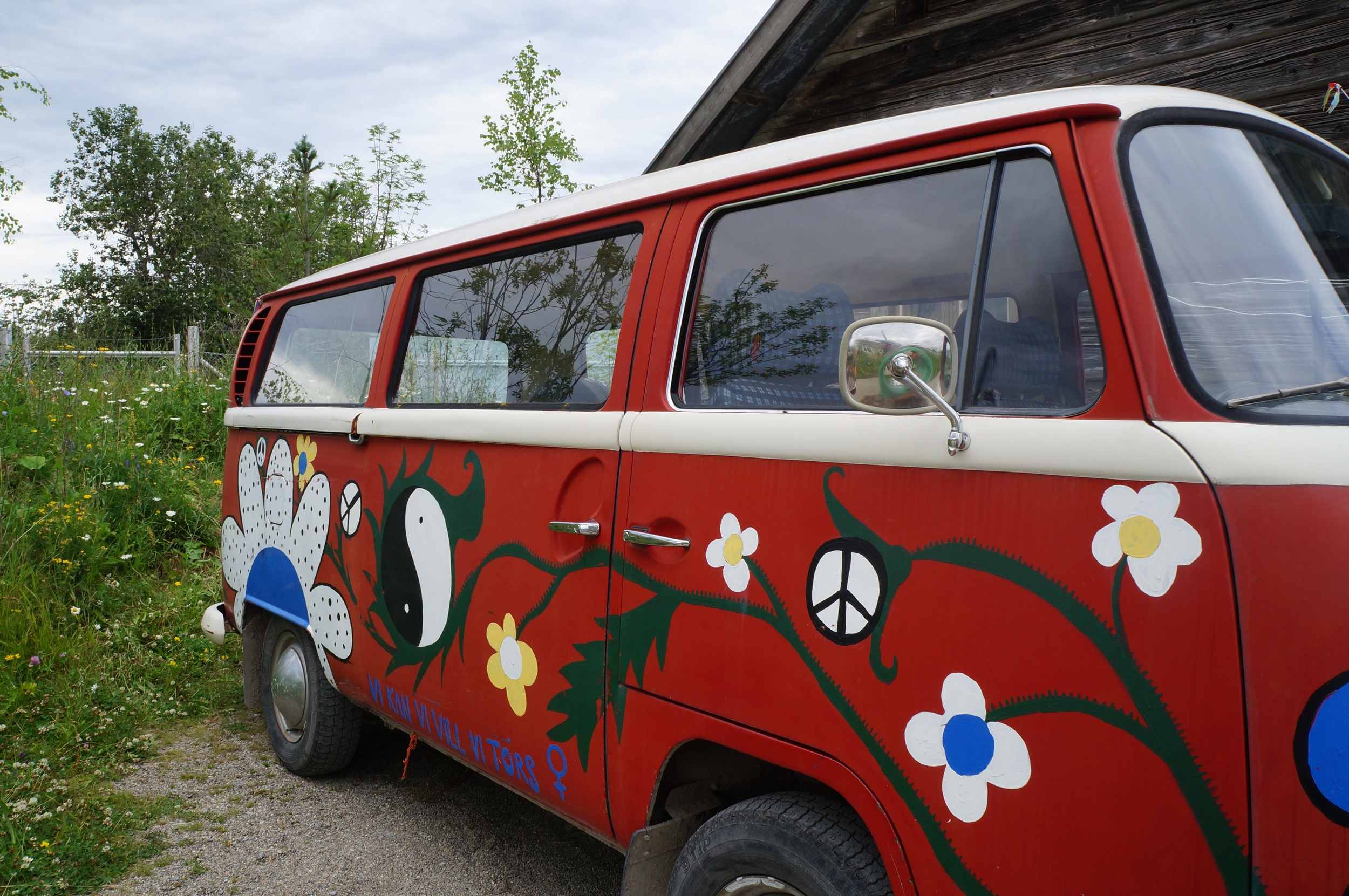 Flower Power and Peace Bus from 1975, Jamtli Sweden