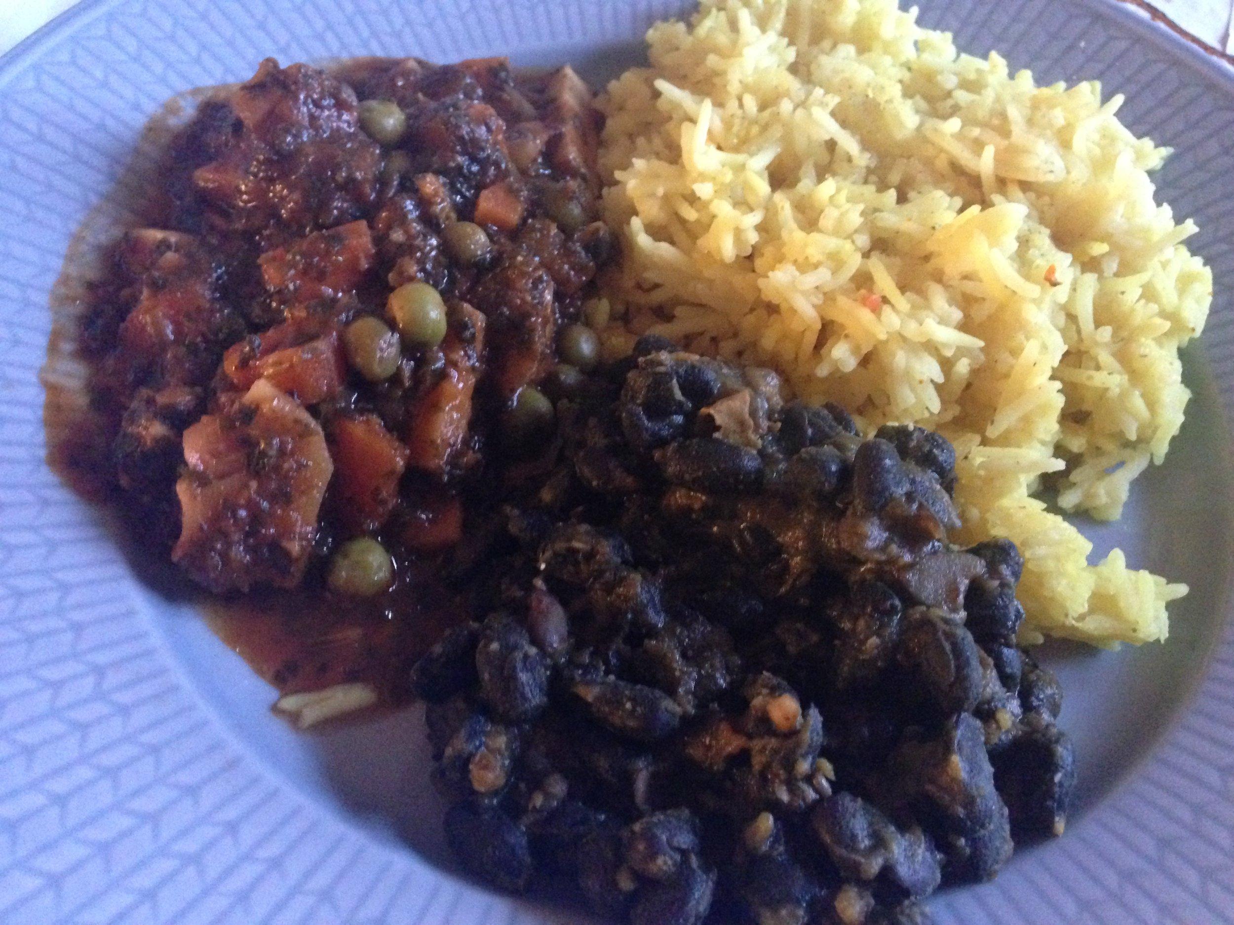 Casado: Bönor & Ris serverat med ratatouille