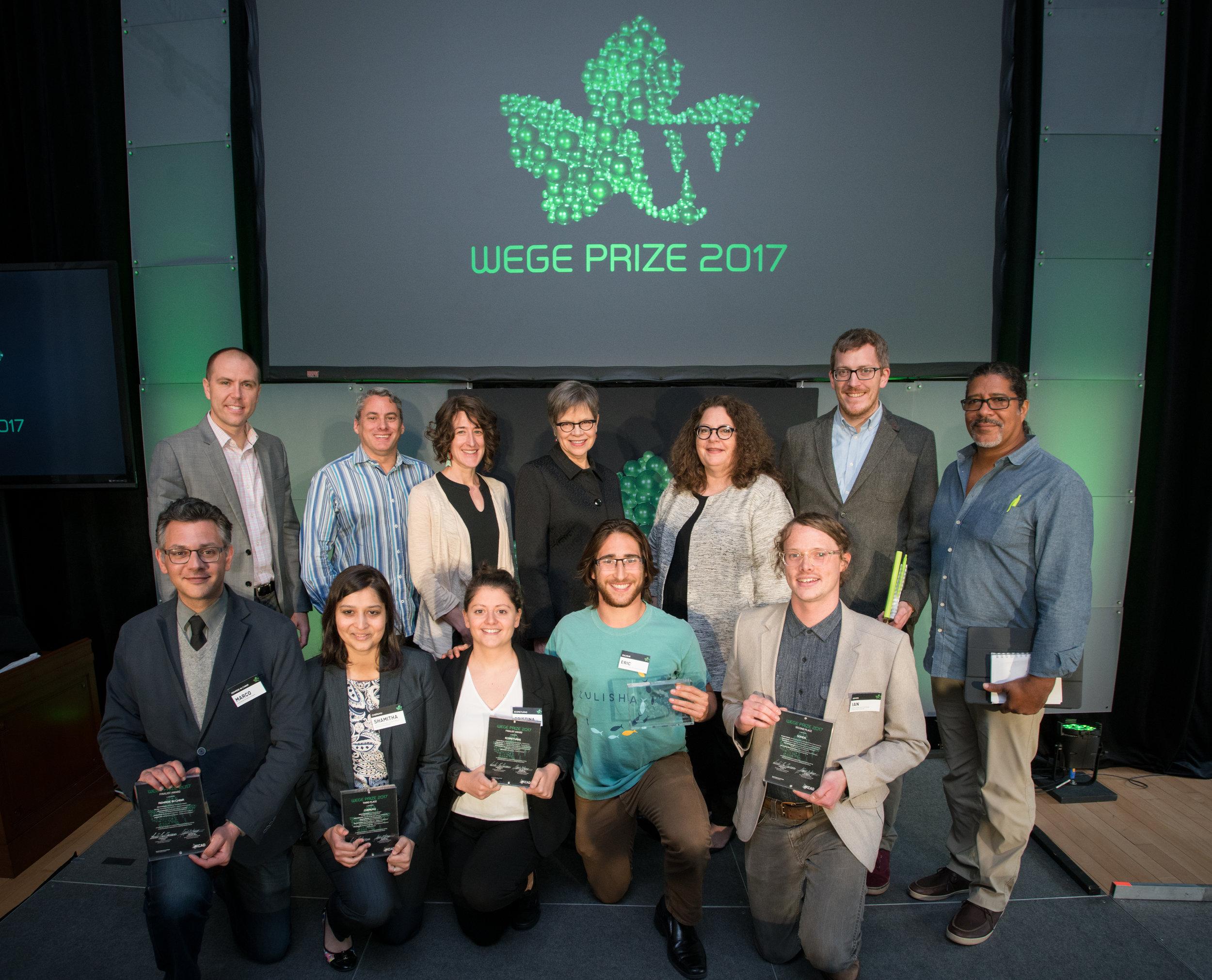 Wege Prize 2017 winners and judges