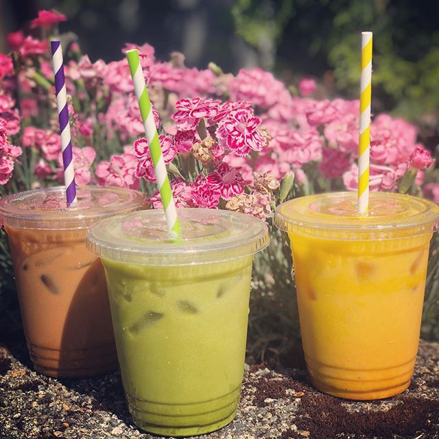 Hot summer days are around the corner! ☀️ Did you know you can get many of your favorite drinks iced? Try a chai latte @tanglewoodbevco, a golden milk (made in house!), or our personal favorite, a matcha @taooftea. Iced to refresh your day! #summerdrinks #matcha #goldenmilk #icedlatte #icedcoffee #☀ #☕️
