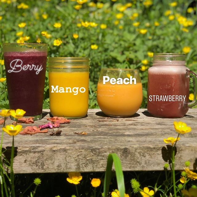Hi folks! It's gonna be a scorcher! ☀️😅 We have our Dr. Smoothie brand 100% crushed fruit purée smoothies to refresh you on this sun shiny day! No added sugar. No dairy. So yum 😃 Reminder ~ smoothies can be put in your own 16oz cups of all shapes for 25 cents off your drink! #summerishere #reusablecup #reducereuse #summerdrinks #drsmoothie #♻️ #refreshing #pdx