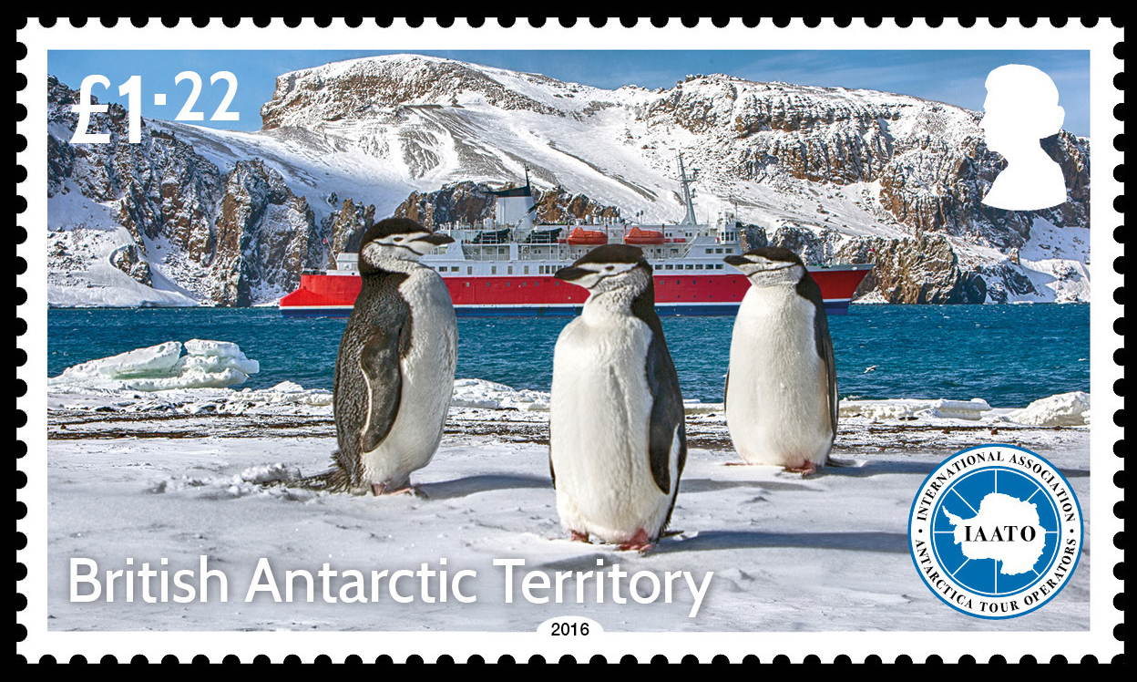 Very Proud to have a postage stage issued commemorating the 25th Anniversary of IAATO and being part of an official issue for a British Antarctic Territory.Stamps can be purchased online through the  Falklands Post Service as single stamps or sheets. The photo above features three stoic Chinstrap penguins on the shores of Deception Island, with the M/S Expedition in the background