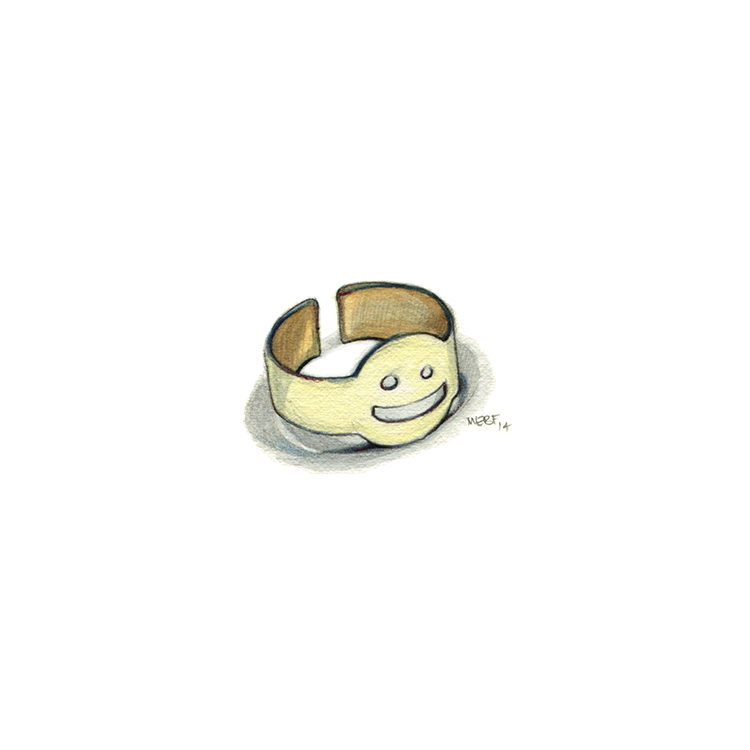 Metal Smiley Ring