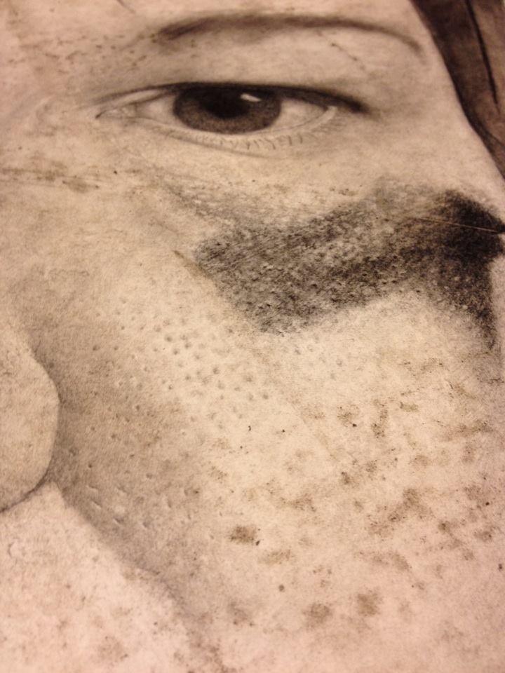 Close up of my self-portrait