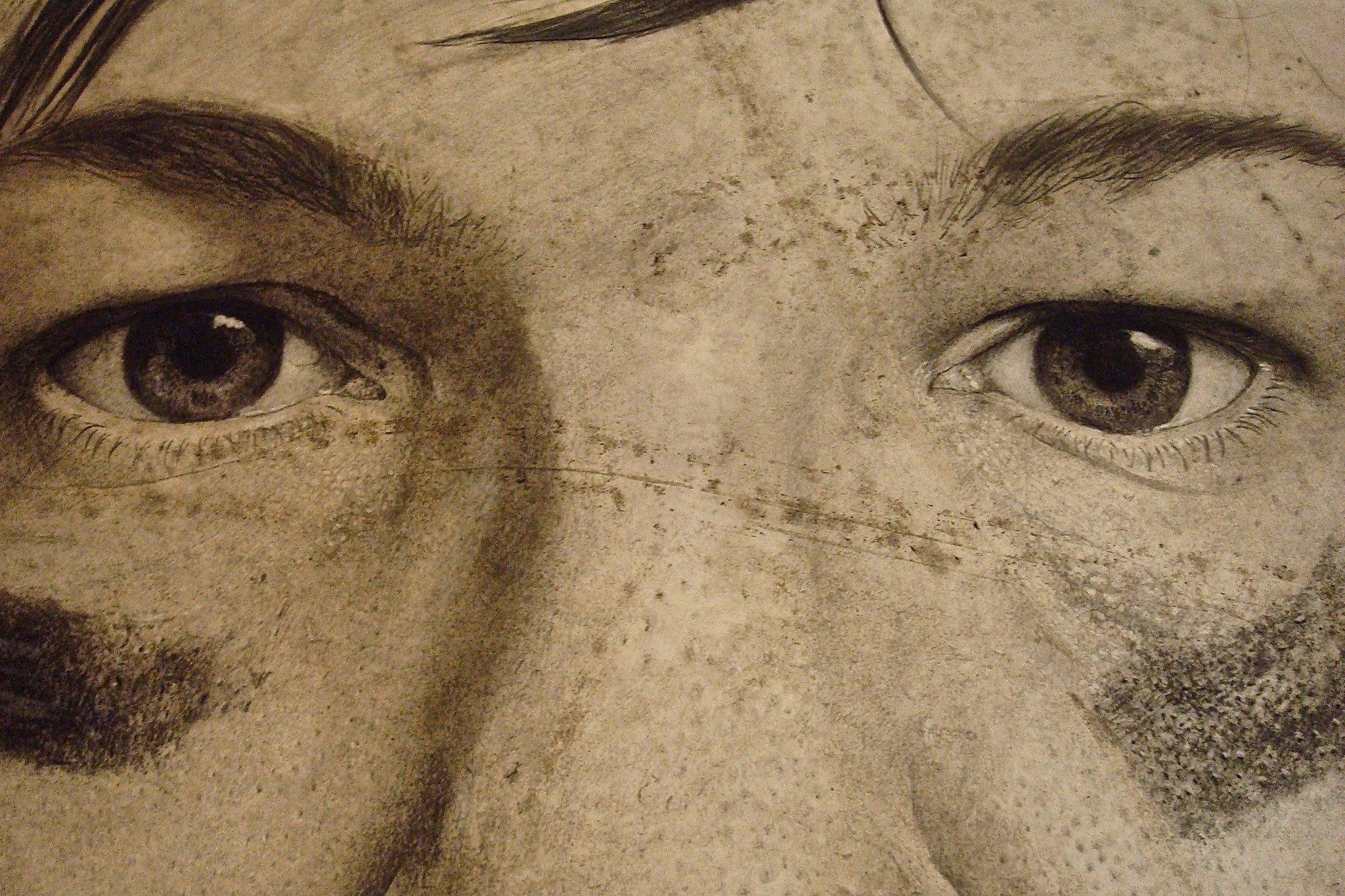 Self-portrait detail.