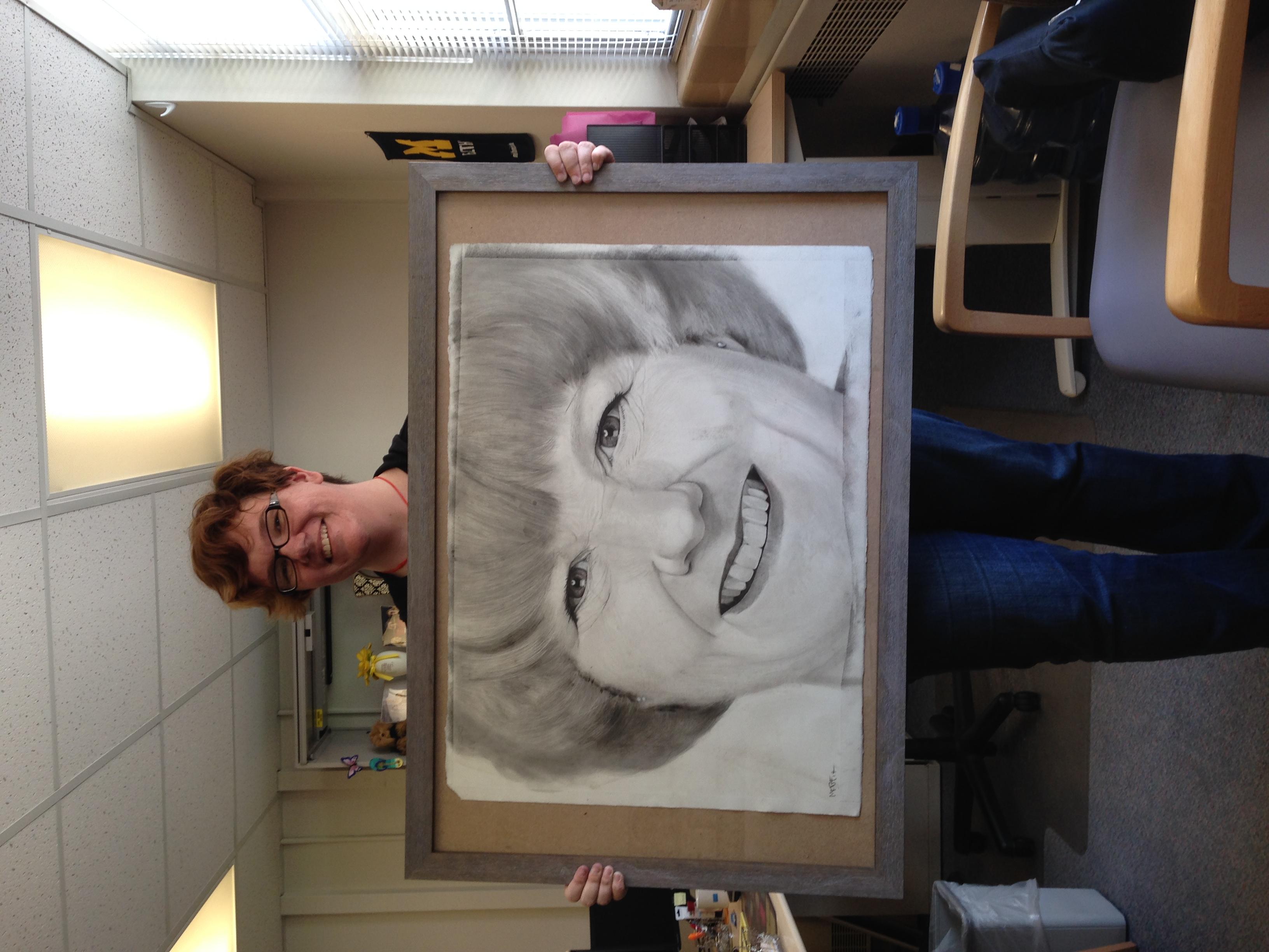 Upzette's Portrait is Framed