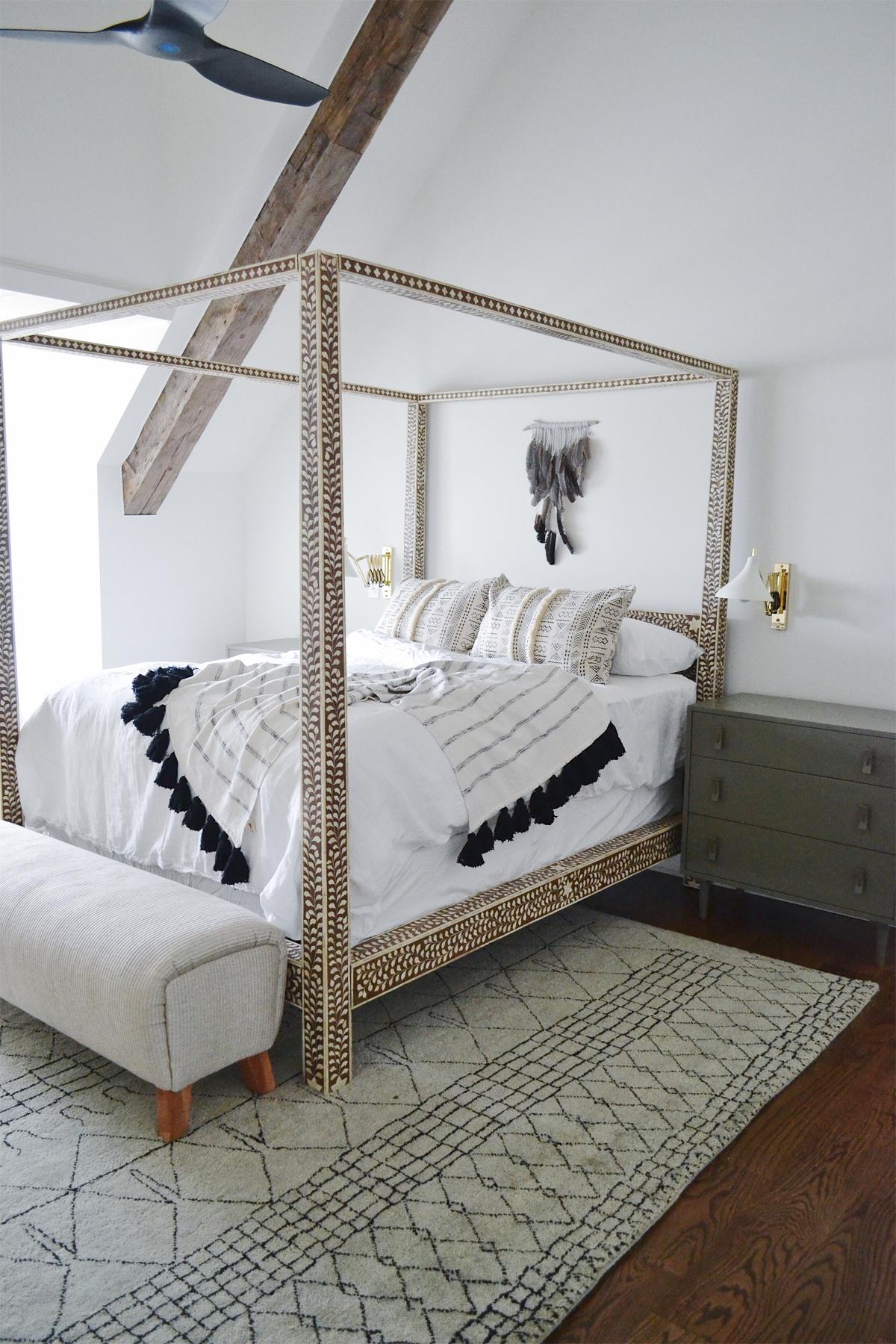 bedroom anthropologie poster bone bed kristen leigh baker feather art.jpg