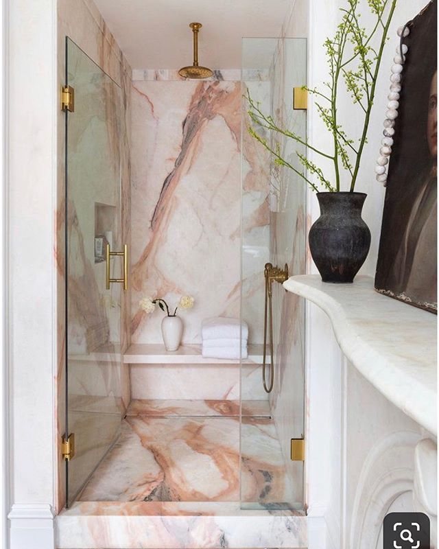 I want this as my bathroom right now. Pink is my new white💫 Who's with me?  designer and photographer unknown 🙈please tag if you know😘