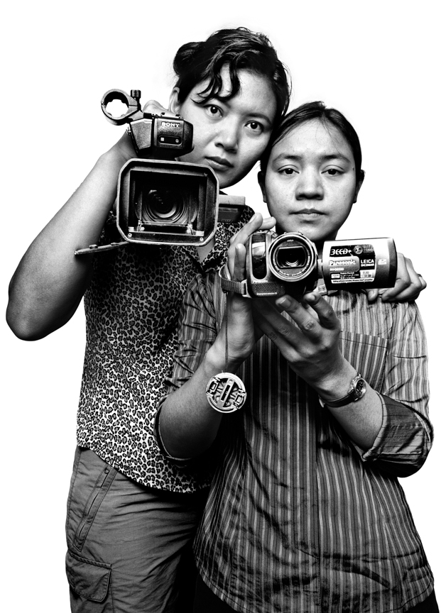 Democratic Voice of Burma (DVB) broadcast journalists Thiri Htet San, 30, a former newscaster in Burma, and Moe Zin, 34. The DVB is a satellite radio and television news service, with highly professional reporters who risk their lives to report and record events inside Burma, and then to broadcast the news back into Burma and to distribute worldwide. One DVB Video journalist who was arrested in 2009 was sentenced to 27 years in prison for filming interviews with monks.