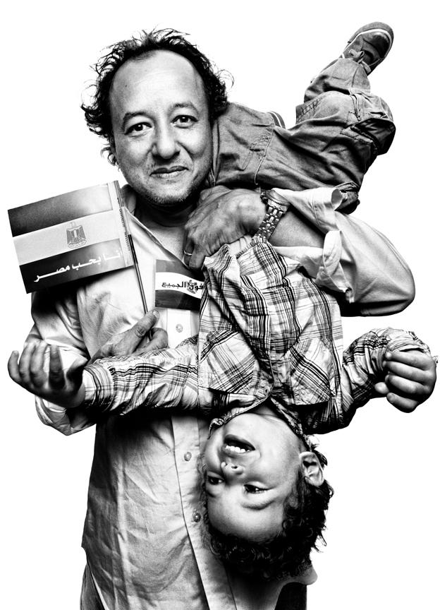 Gasser Abd El Razek with his son, Khalil Gasser Abd El Razek