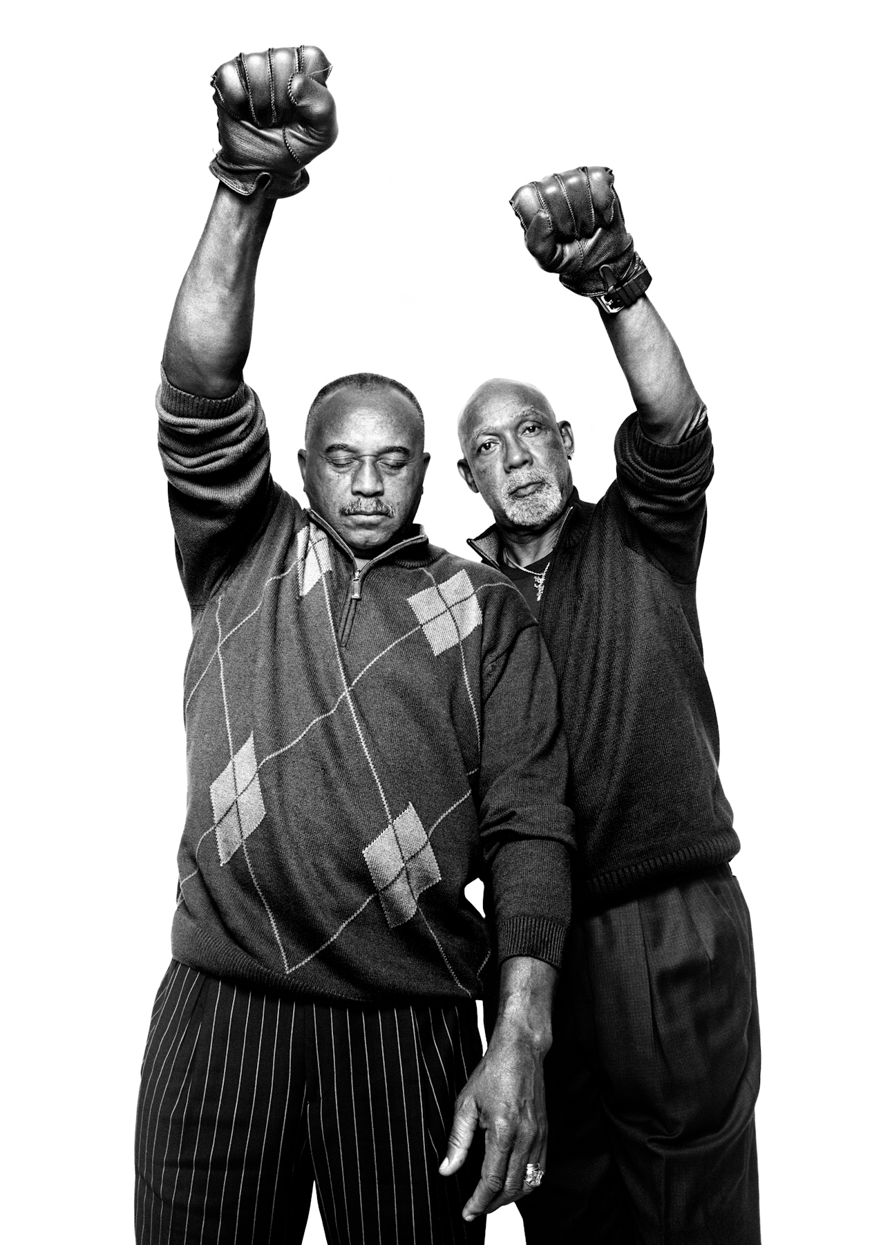 Olympians Tommie Smith & John Carlos | NYC | 2009.