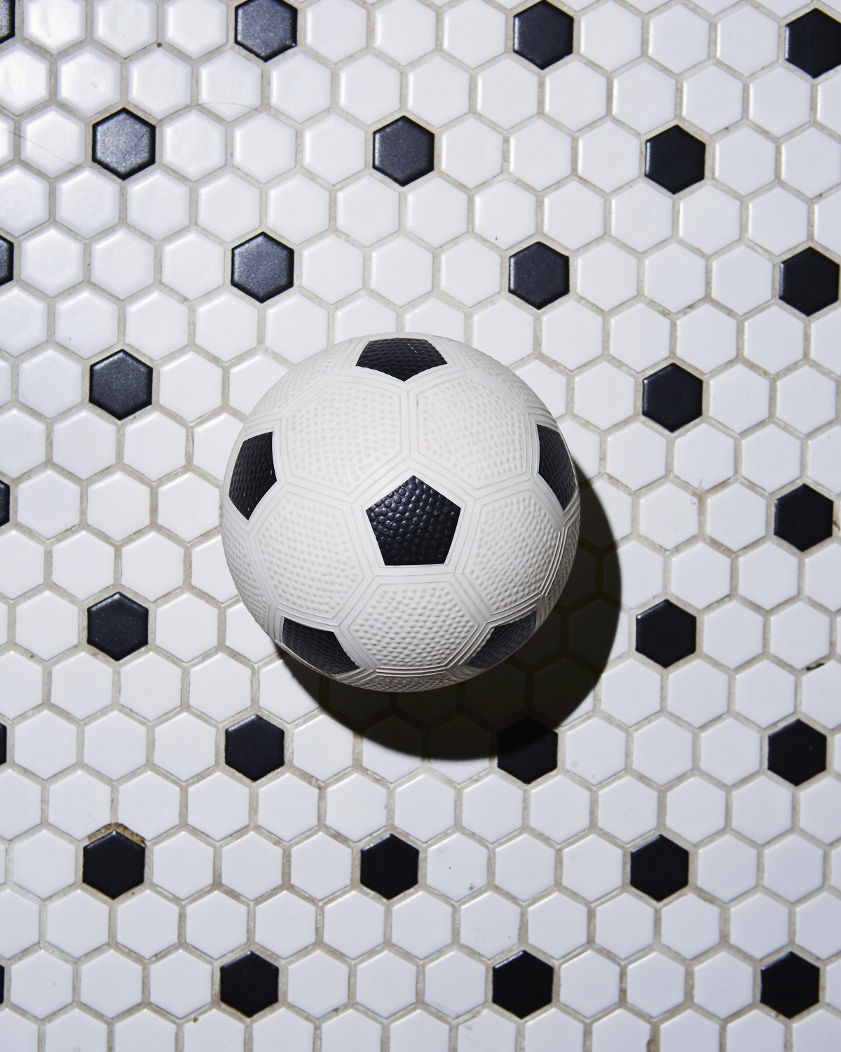 Ball on tile.