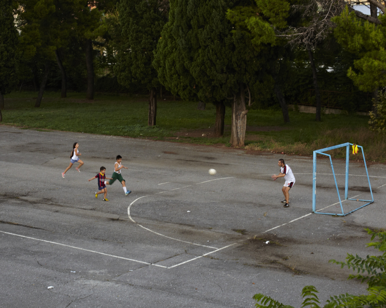 Soccer in the Balkans.