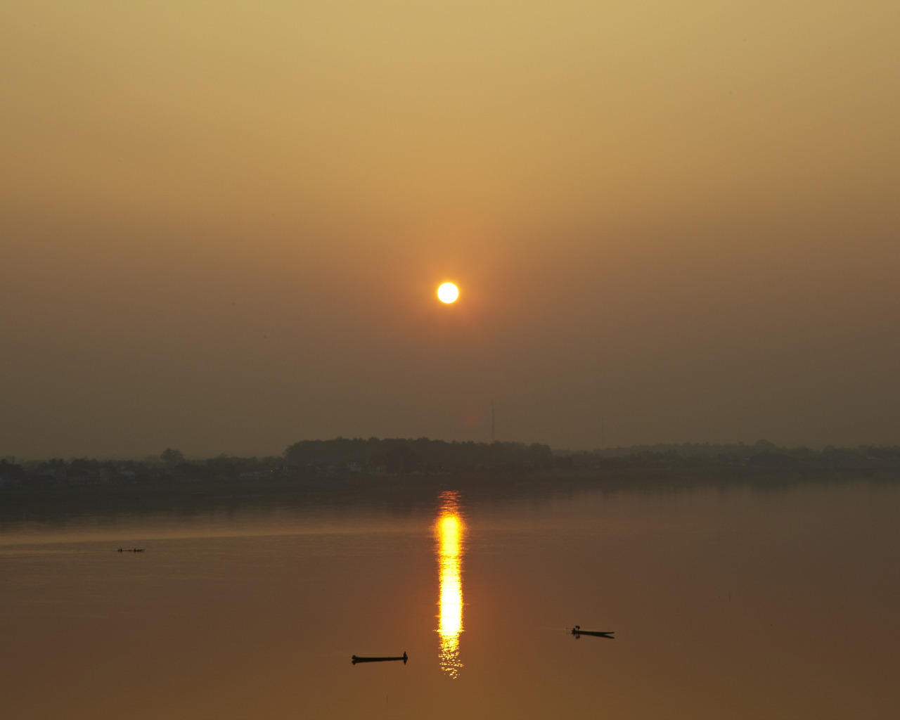 Mekong River from Laos at sunset.