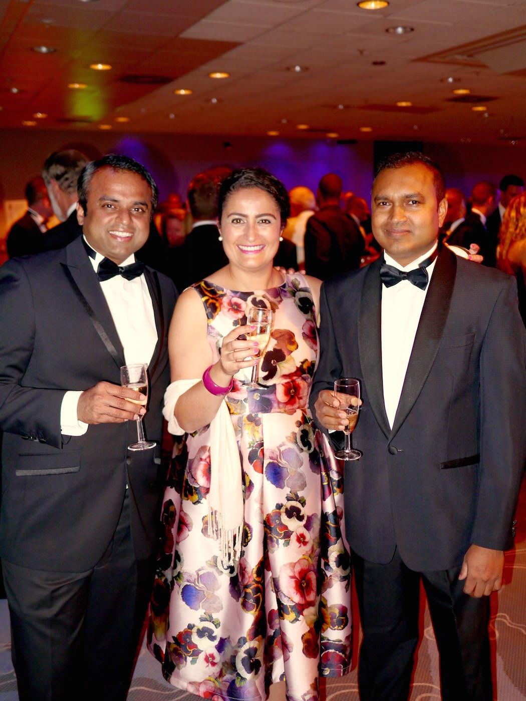 (L to R): Co-owner Kanthi Thamma, Operations Manager Rachida Zitouni & Head Chef Gouranga Bera