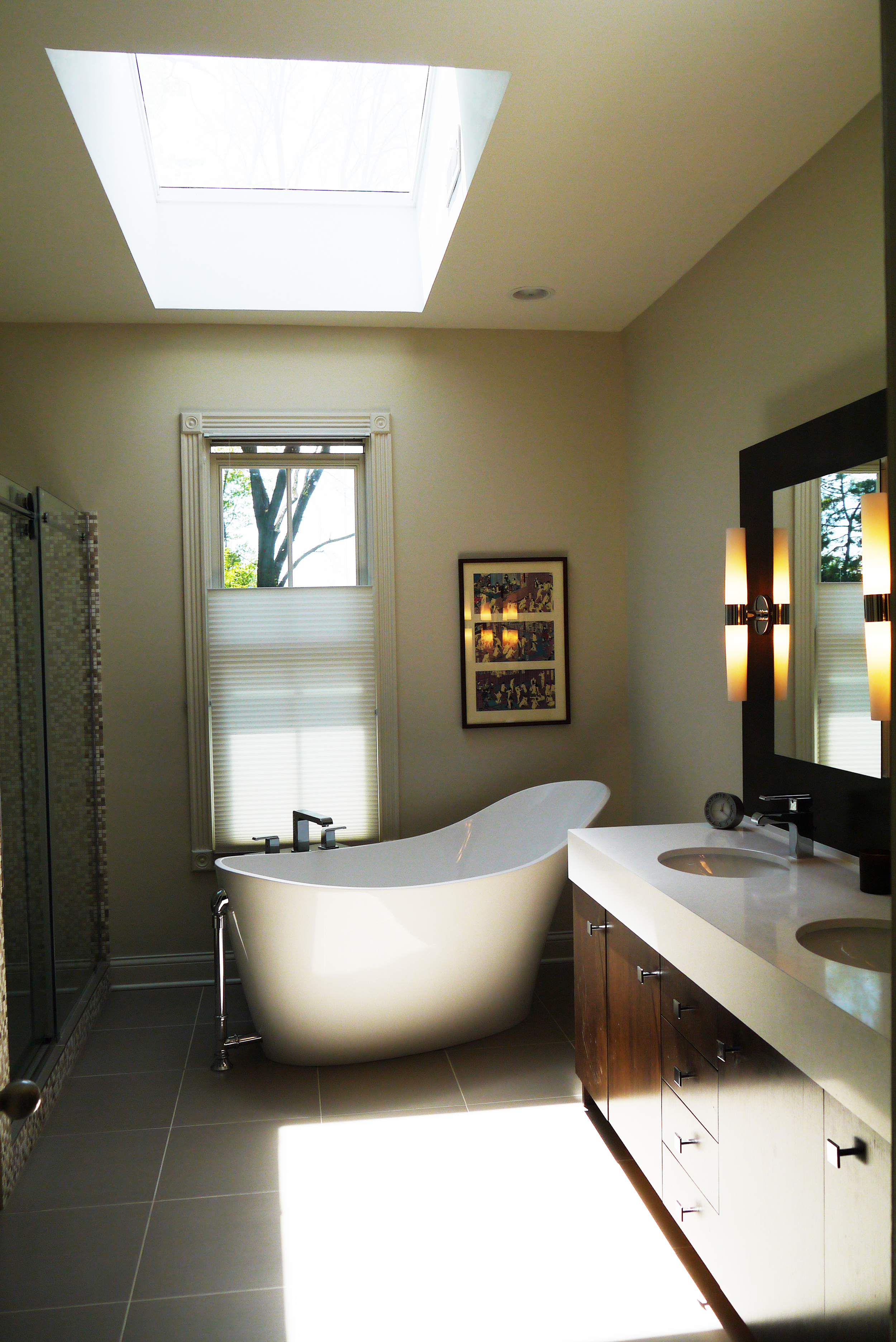 2 Point Perspective - Wilmette Residence Bath