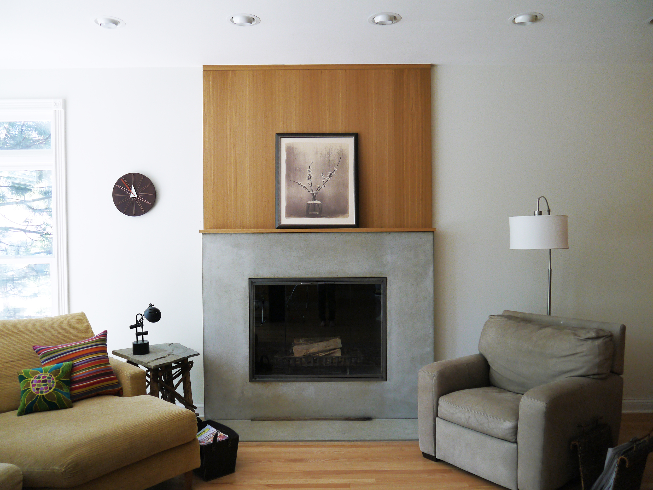 2 Point Perspective - Wilmette Residence Fireplace