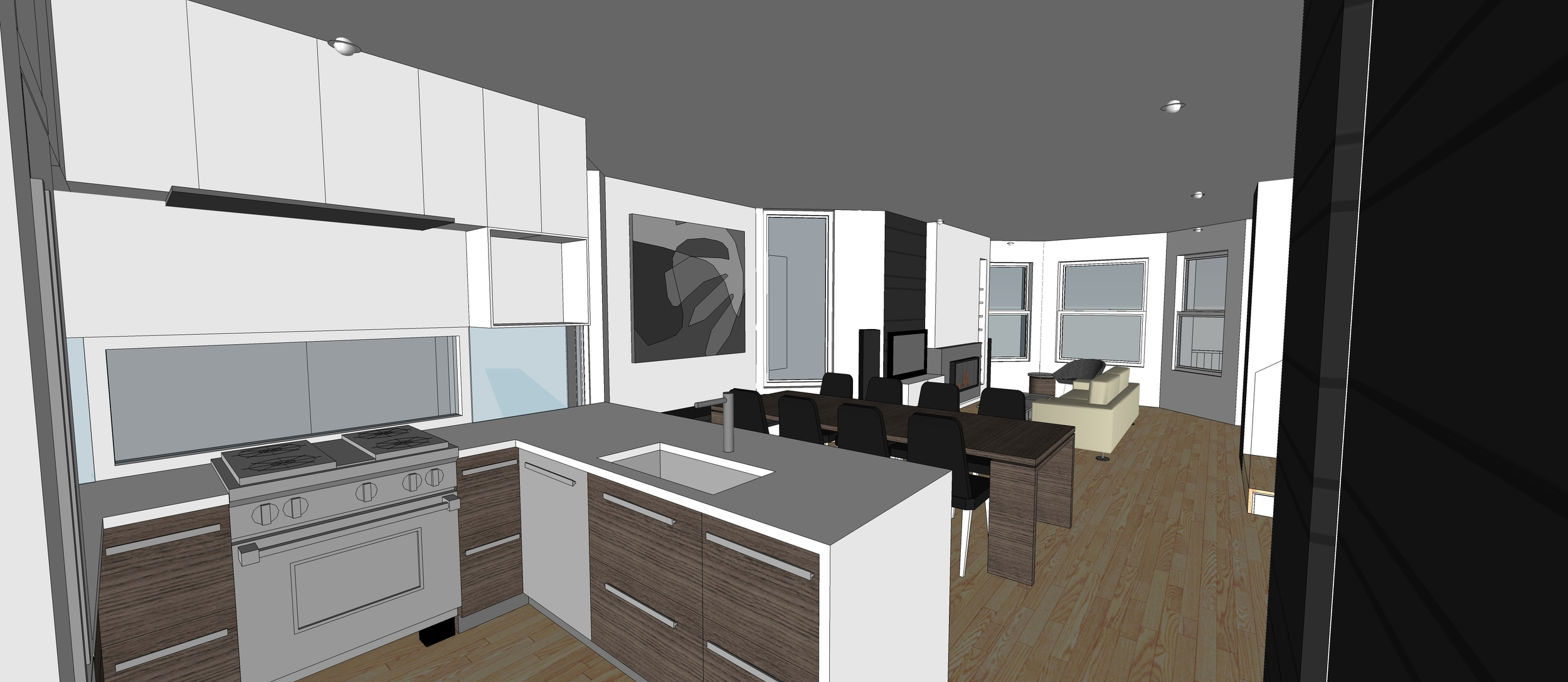 2 Point Perspective - Andersonville Residence (Kitchen).jpg