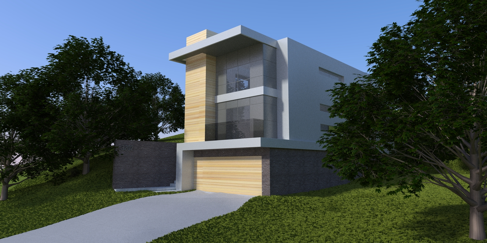 2 Point Perspective - Hillside Residence (Exterior).jpg