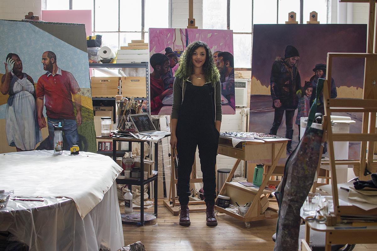 Leslie Barlow Standing in her Studio