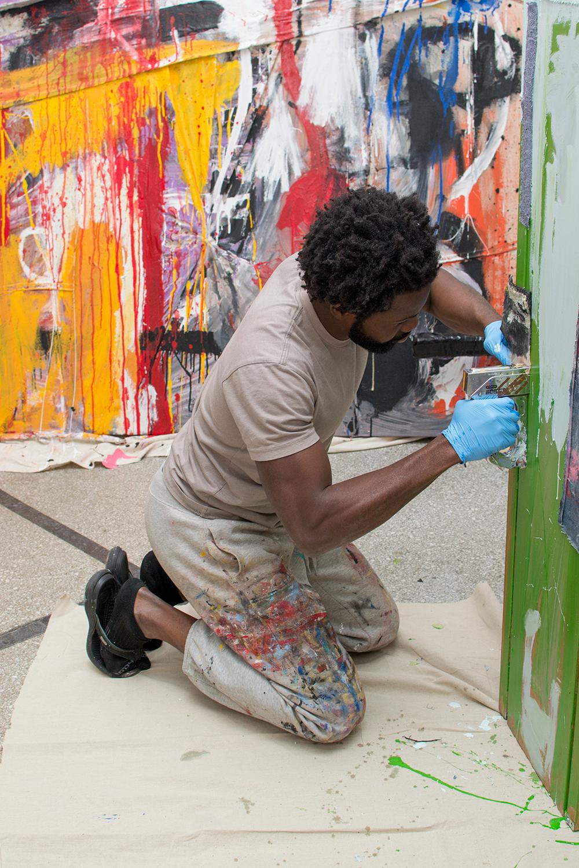Adetomiwa Gbadebo Working in Studio