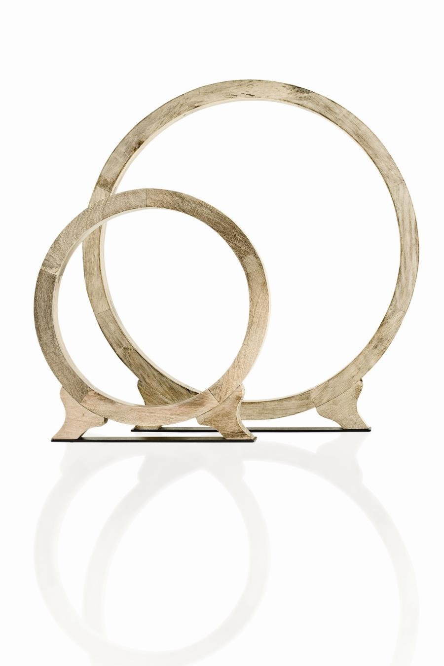 Simple and architectural wooden rings from Arteriors.