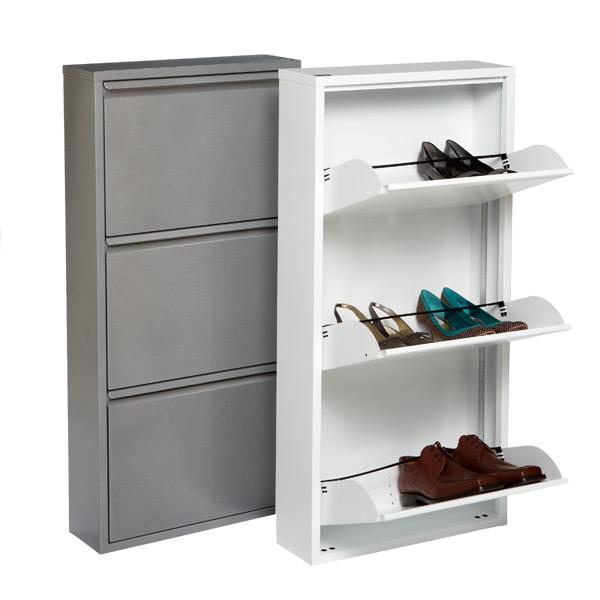 shoe storage that folds up flat