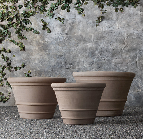 Restoration Hardware Impruneta Planters prices range from $395 to $1110- on sale now!!